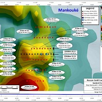 Figure 1 - Map Mankouke 1-5000 - South West
