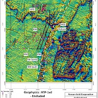 Map with all Roscan Properties Geophysics Map